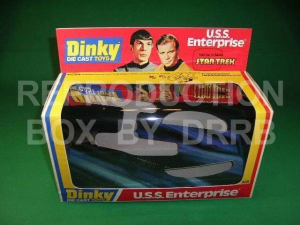 Dinky #358 U.S.S. Enterprise - Reproduction Box